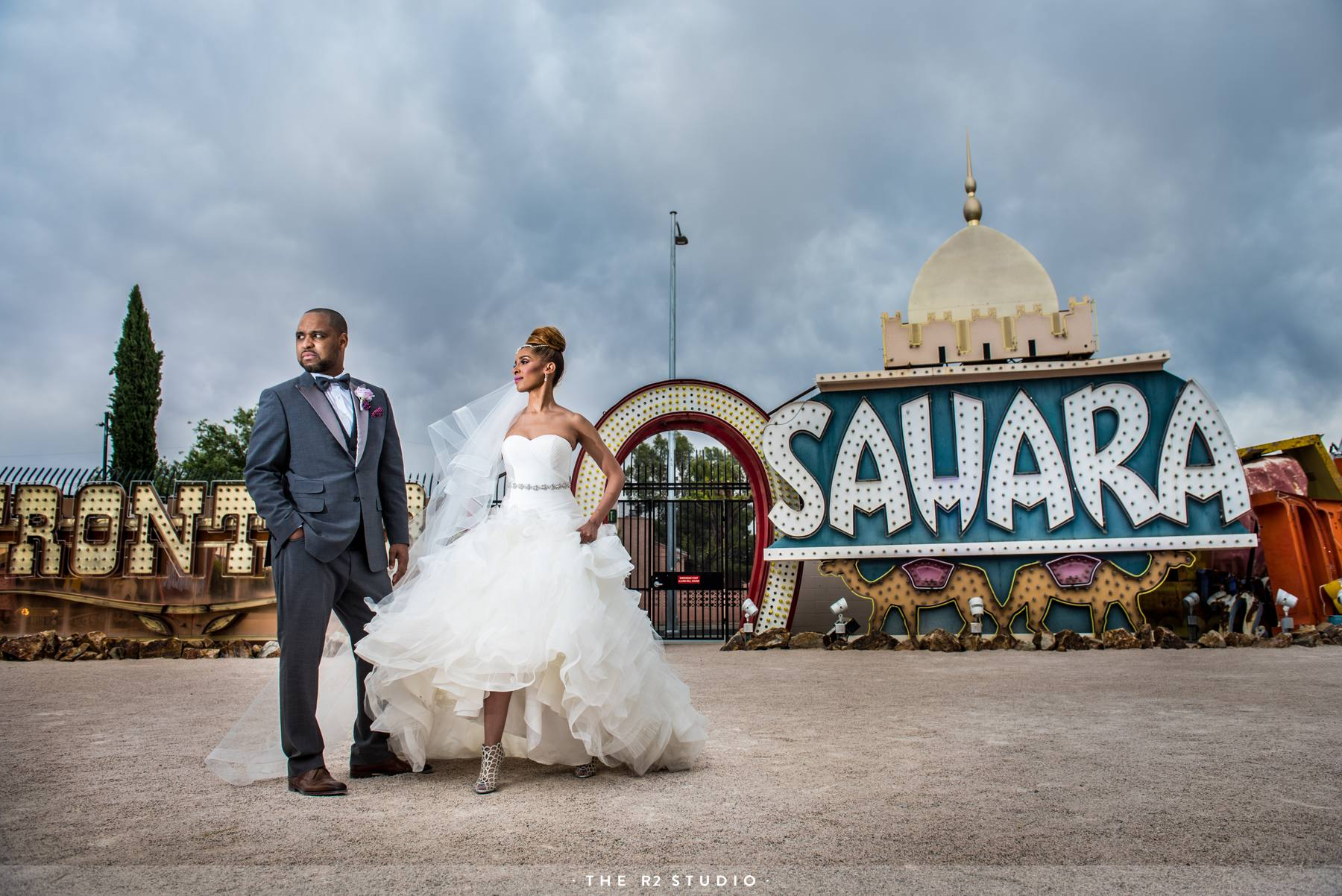 The Neon Museum In Las Vegas Wedding Photos By Best Photographers